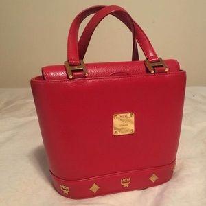 MCM Handbags - MCM red small bucket bag