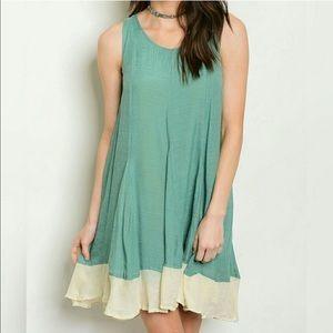Threadzwear Dresses & Skirts - New listing, 🌿🌾Mint Green ruffled Tunic Dress🌴