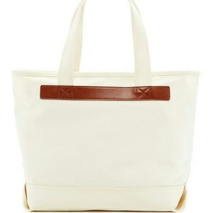 J. Crew Factory Handbags - NWT! Jcrew leather trimmed canvas tote bag
