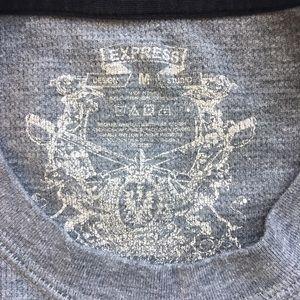 Express Shirts - Express Long Sleeve Waffle Logo Tee