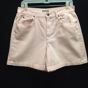 "Vintage High Waisted ""Mom"" Pink Denim Shorts"