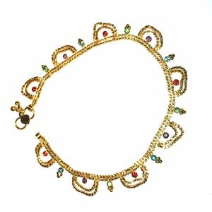 Jewelry - Indian Gold Rhinestone Anklet