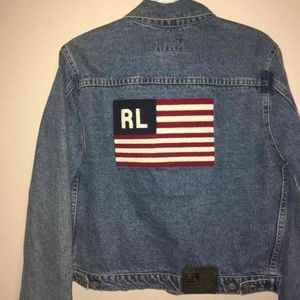 Polo by Ralph Lauren Other - HP!🇺🇸 Ralph Lauren Polo Jeans Flag Jean Jacket