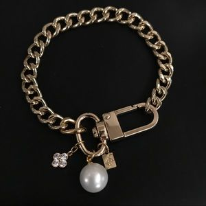 Pearl and Diamond Charm Bracelet