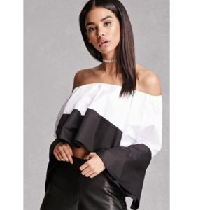 INA Tops - NWT OFF SHOULDER COLORBLOCK TOP SIZE SMALL