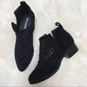 Jeffrey Campbell Shoes - Jeffrey Campbell Black Velvet Taggart Booties