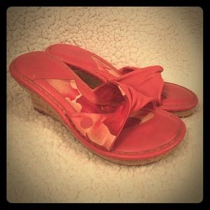 Born Shoes - Pink BORN Wedges