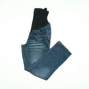 Jet Set Pants - Jet Set Maternity Denim Capri Jeans Size Medium