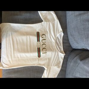 eacd483e Gucci Tops   2 Smalls Left More Sizes Coming Soon Logo T   Poshmark