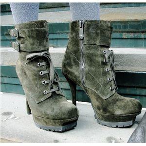 Sam Edelman Shoes - SAM EDELMAN Vancouver Suede Lace Up Bootie Boots