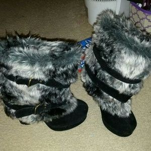 c. label Shoes - C. Label ladies fur boots