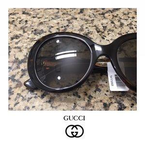 NWT GUCCI Round Havana Sunglasses