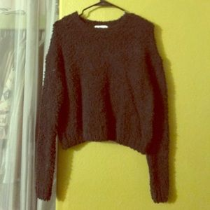 Brandy Melville Sweaters - Black fuzzy sweater