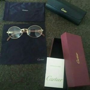 Cartier Other - Cartier wood frame glasses