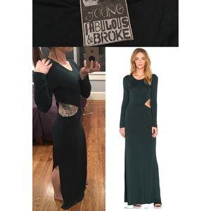 Young Fabulous & Broke Dresses & Skirts - 💥YFB Brooklyn Maxi Dress in Hunter Green EUC💥