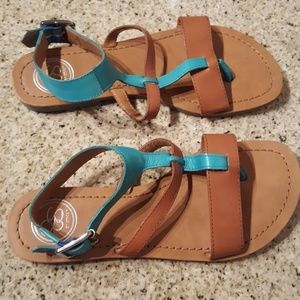 Jessica Simpson - Turquoise & Brown Sandals - Sz 6
