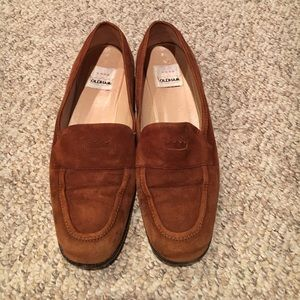 todd Oldham Shoes - Todd Oldham brown rust Suede loafer shoes sz 40-9
