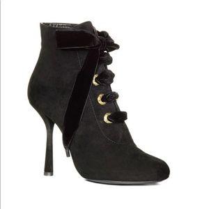 Lanvin Shoes - Lanvin Lace Up Booties black suede