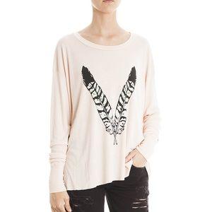 Wildfox Feather Child long-sleeve shirt XS