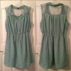Rhapsody Dresses & Skirts - Mint green cross pattern dress size 3x lightweight