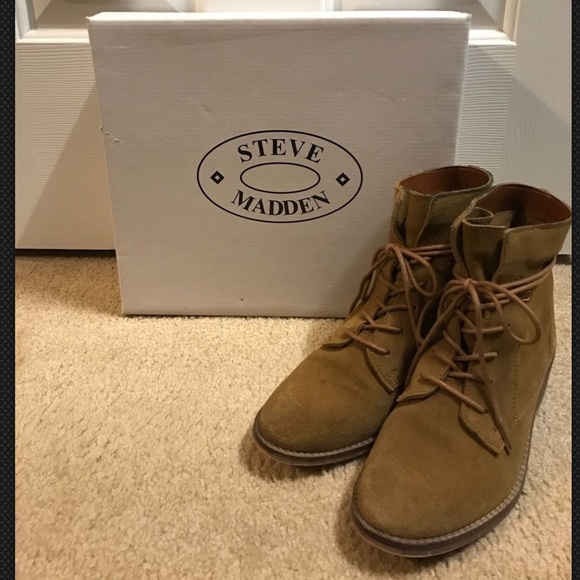 7ee6eeec4c7 Steve Madden Rosaly Tan Suede Lace Up Boots