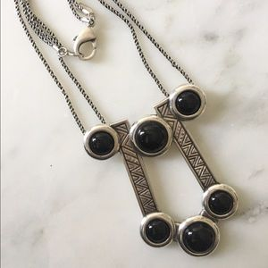 Pamela Love Jewelry - Pamela Love Comet Necklace Silver tone and Onyx
