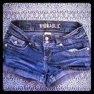 Hydraulic Pants - HYDRAULIC size 3/4 denim shorts!!