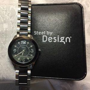 steel by design Accessories - Steel by Design Ceramic & Stainless Steel Watch