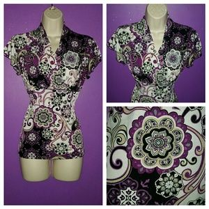 Tops - Beautiful Graphic Print Blouse