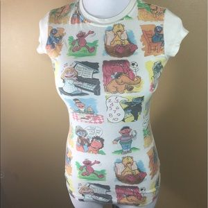 Mighty Fine Tops - Sesame Street Novelty Fitted T Shirt Size Small