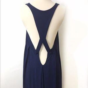 Rachel Pally Navy Maxi dress with pockets
