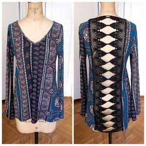 Vintage Havana Tops - NWOT Vintage Havana crochet back boho tunic