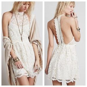 Free People Dresses & Skirts - Free People Lace Dress in Ivory
