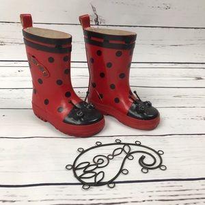 Kidorable Other - Kidorable Ladybug Antlers Rain Boots Red Size