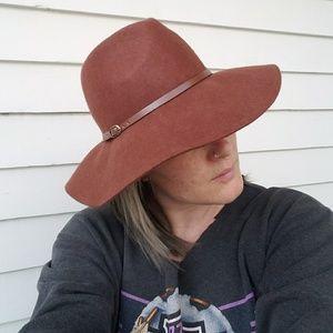 Accessories - Womens Boho Wool Panama Rancher Floppy Hat