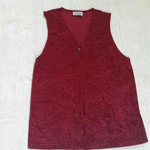 Teddi Other - Long crushed velvet vest