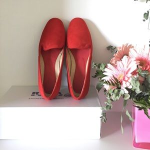 Shoes - Red suede flats