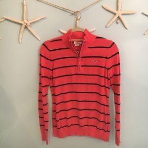 Vineyard Vines Sweaters - Striped Vineyard Vines 1/4 zip sweater