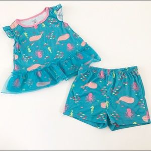 Carter's Other - Child of Mine by Carters blue sea creature pajamas