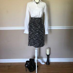 NWOT-Sunny Leigh Black Brown Tweed Skirt