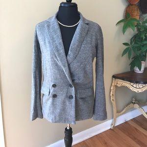 J. Crew Jackets & Blazers - J. Crew Gray Wool Blazer /jacket Size 0 NWOT