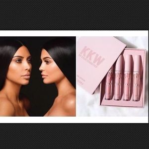 Kylie Cosmetics Other - KKW X KYLIE Set Of 4 Creme Liquid Lipsticks