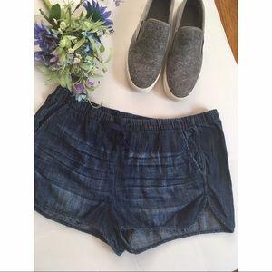 Express jogger denim shorts w/pockets