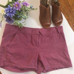 J.Crew pink stripe shorts W/Pockets