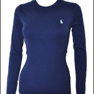 Navy Blue Polo Ralph Lauren Crew Neck Long Sleeve
