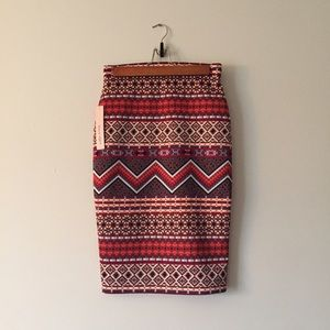 Sequin Hearts Dresses & Skirts - Beautiful aztec print high rise midi bodycon skirt