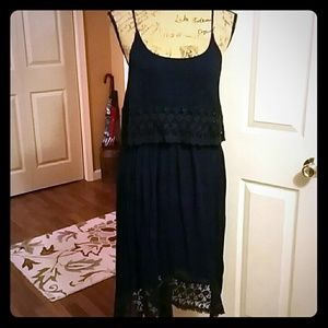 Very light and airy summer dress in navy blue