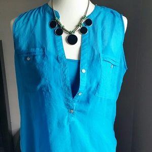 Apt. 9 Tops - Apt 9 Blue blouse