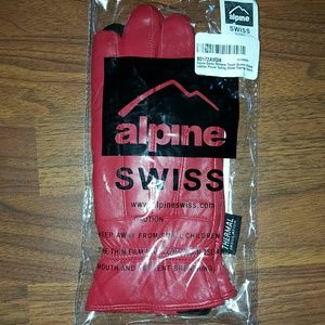 Alpine Swiss  Accessories - Leather phone texting gloves