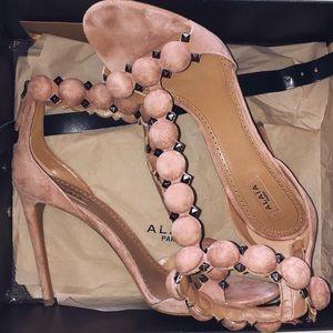 Alaia Shoes - Alaia T-Strap PomPom Sandal